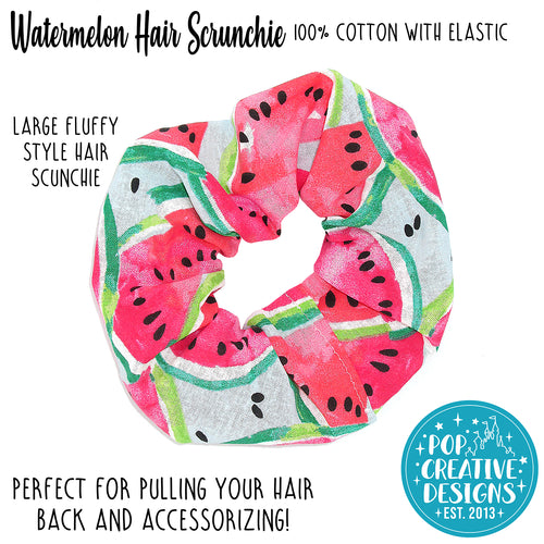Watermelon Hair Scrunchie