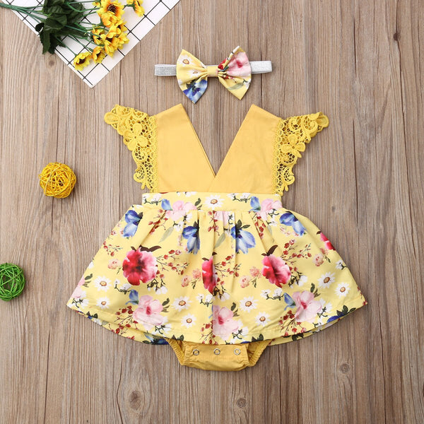 Baby Girl Rompers Flower Lace Jumpsuit Cute Baby Girl Clothes