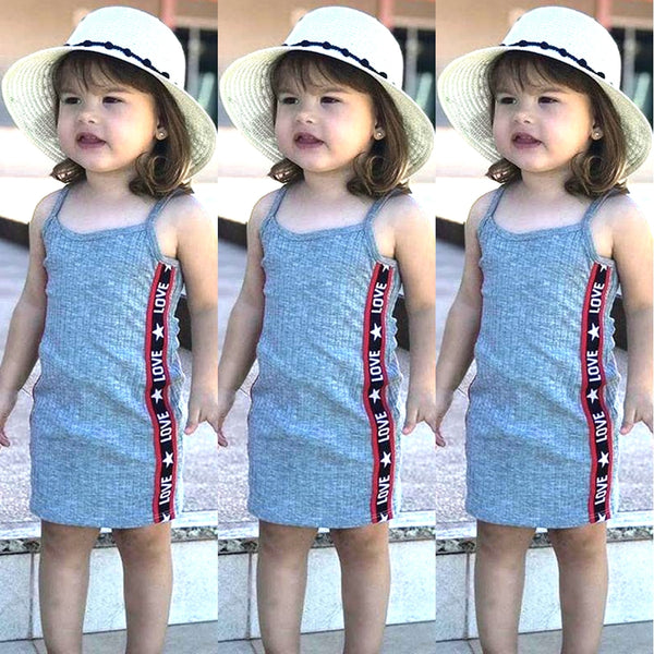 Baby Girl Dresses Sleeveless Dresses Cotton Party Toddler Kids Children Dress Infant Beach Strap Cheap Baby Girl Clothes