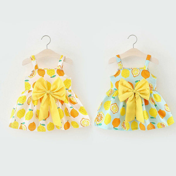 First Birthday Outfit Girl Bowknot Cute Summer Princess Dress For Kids