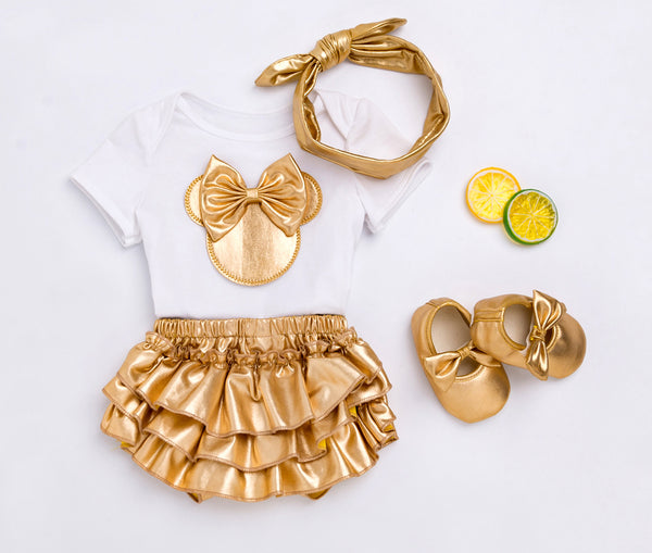 2020 Baby Girl Clothes 4pcs Clothing Sets Baby Girl Coming Home Outfit