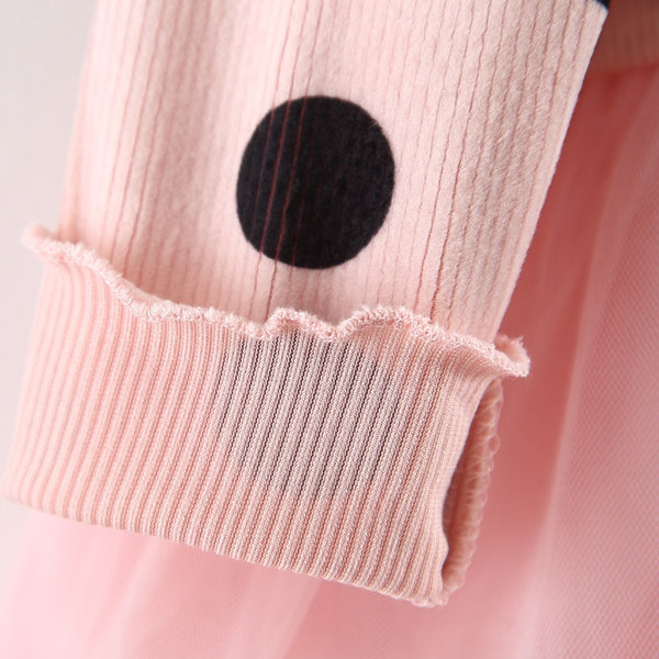 1st Birthday Outfit Girl Autumn Dress Long Sleeve Baby Girl Clothes