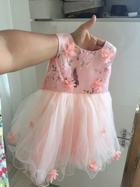 Baby Flower Girl Dresses First Birthday Outfit