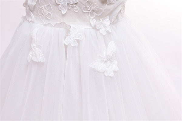 Baby Girl Baptism Dress Dress Butterfly White Baptism Dresses