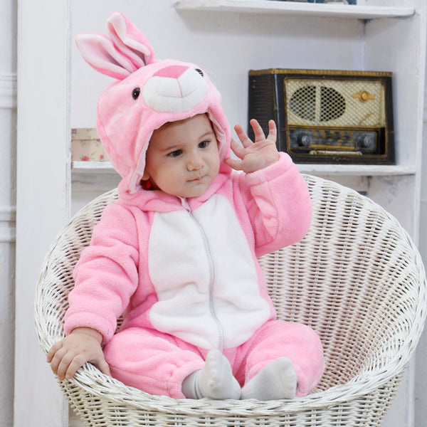 Baby Rompers Cartoon Animal Pink Rabbit