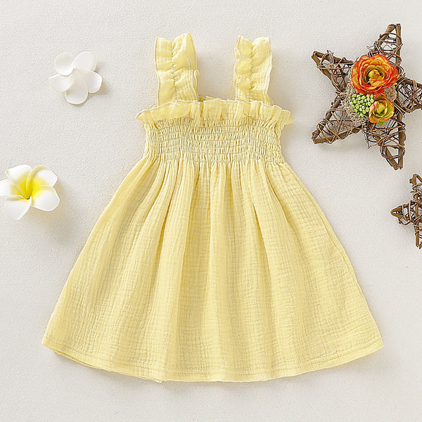 Cute Baby Outfits Cotton Slip Dress American Princess Dresses