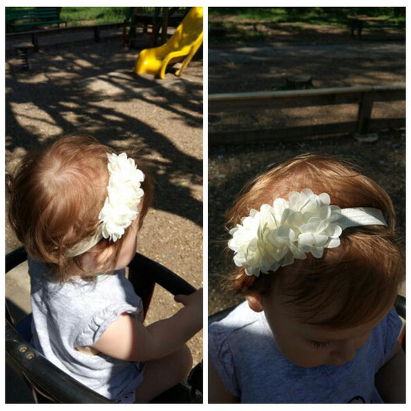 Baby Girl Headbands New Chiffon Lace Flower Newborn Headbands