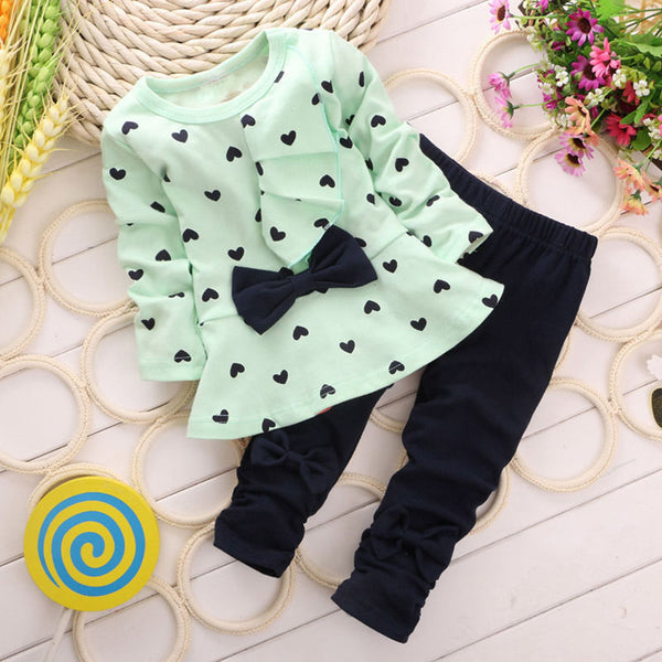 Cute Baby Girl Outfits Autumn Winter Hoodies+Pants 2pcs Baby Clothes