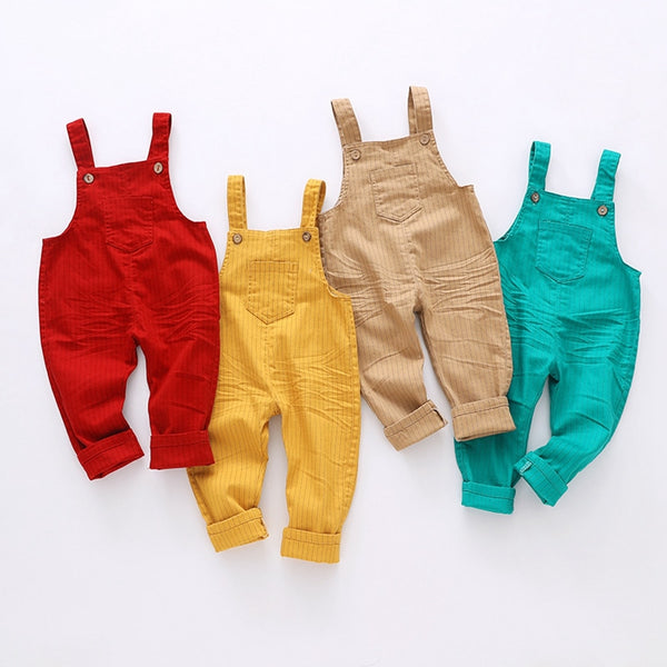 Overall Pants Cotton High-Quality Kids Clothing