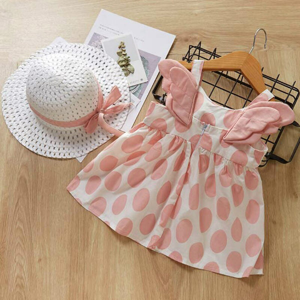 Newborn Dresses Set Princess Dress With Hat Baby Girl First Birthday Outfit