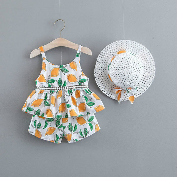 Baby Coming Home Outfit 3PCS Flora Shirt Shorts Sets For Girls Newborn Girl Clothes