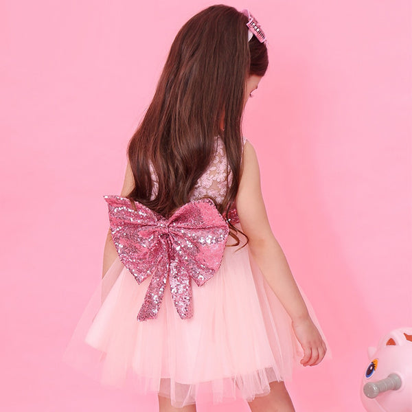Baby Girl Easter Dress 2020 Sequined Sling Princess Dress Layered Baby Girl Dress