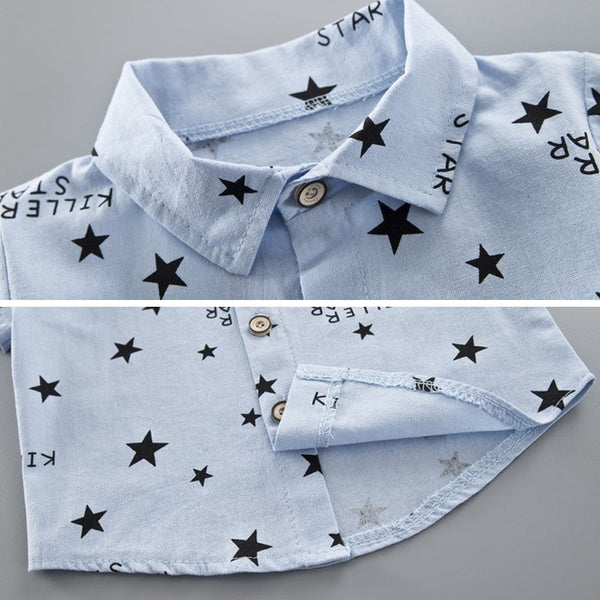 Baby Boy Clothes White Shirt Star Letter Pants Short Costume For Kids