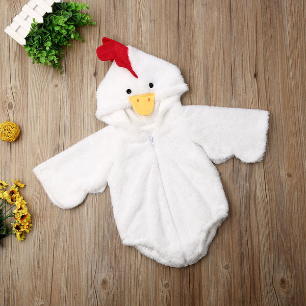 Boys Rompers Hooded Jumpsuit Long Sleeve Warm Winter Autumn Baby Chicken Costume