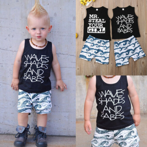 Baby Costumes For Boy Tops + Shorts Beach Clothes Outfits