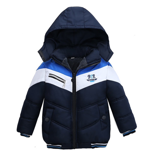 Kids Winter Coats 1-5 Years Boys Coat Casual Autumn Hooded Thick Outerwear Coat For Boys Children