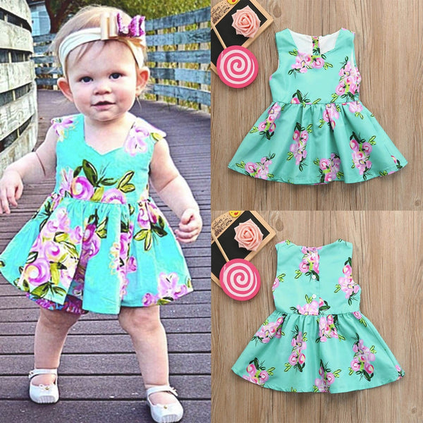Princess Dresses For Toddlers Floral Print Baby Girl Dresses