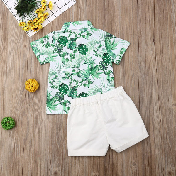 First Birthday Outfit Boy Set T-shirt Tops+Short Baby Boy Coming Home Outfit HT22