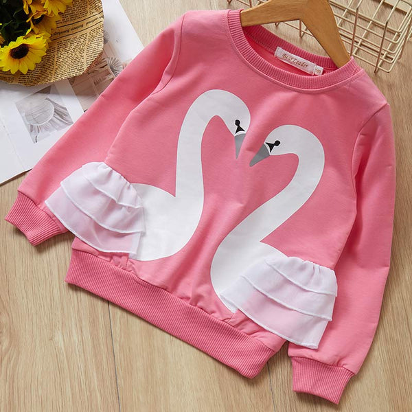 Winter T-shirt New Spring Fashion Full Sleeves Birthday Girl Shirt