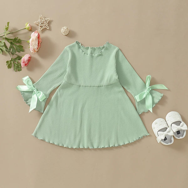 Birthday Outfits For Girls Bridesmaid Striped Bow Novelty Dresses Princess Dress For Kids