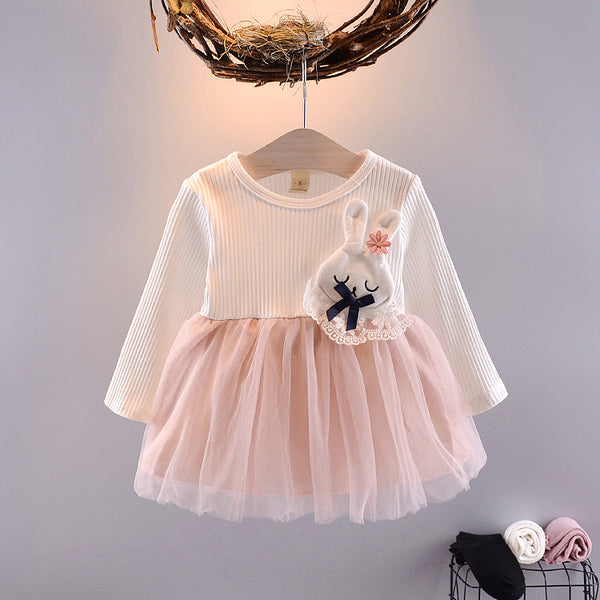 1st Birthday Outfit Girl Autumn Dress Cotton Princess Dresses For Toddlers