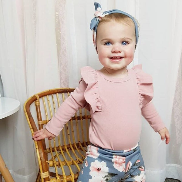 Baby Girls Romper Long Pants Headband