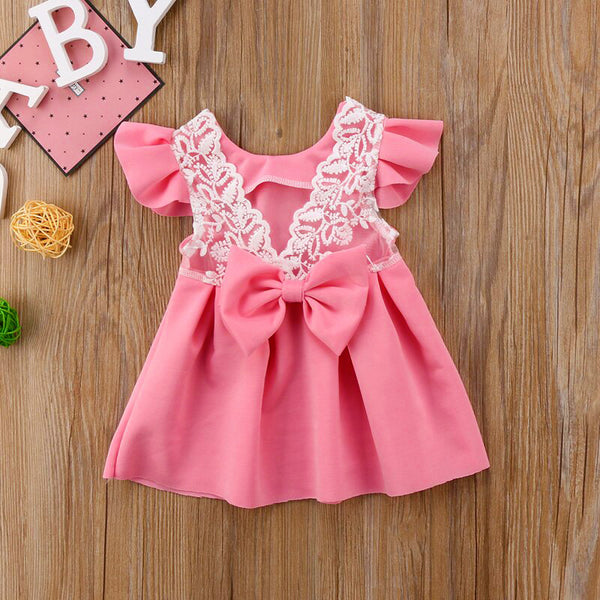 First Birthday Outfit Baby Girl Dresses Flower Lace Princess Dress