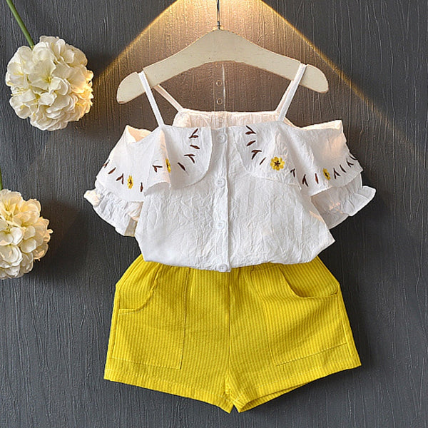 Baby Coming Home Outfit Set Tops+ Pants Short Baby Girl Clothes