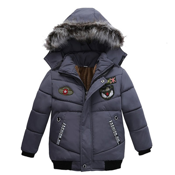 Toddler Boy Winter Coats 1-5 Years Boys Coat Casual Autumn Hooded Thick Outerwear Coat For Boys Children