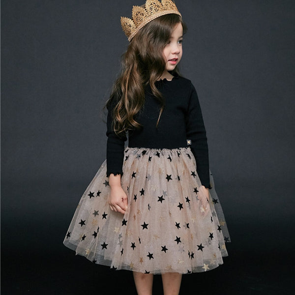 Baby Girl Dresses Spring New Long Sleeves Princess Costumes 3-7 Years Old