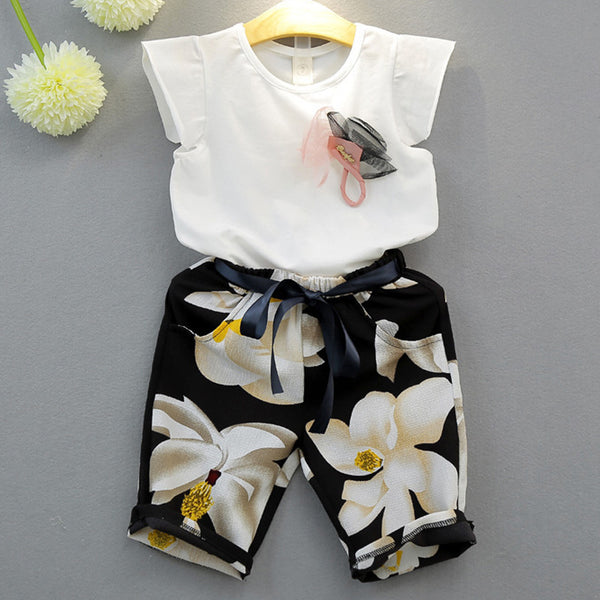 Baby Coming Home Outfit Set Tops+ Pants Baby Girl Clothes HT3120