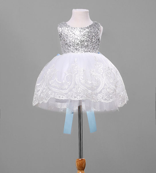 High-Quality Lace Princess Baby Dress Cute Fashion Baby Girl Dress Embroidered Sequins Flower Girl Dress