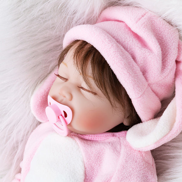 Reborn Dolls Toys Set For Girls Silicone Sleeping Reborn Dolls with Clothes Realistic Toys Kids Birthday Gifts