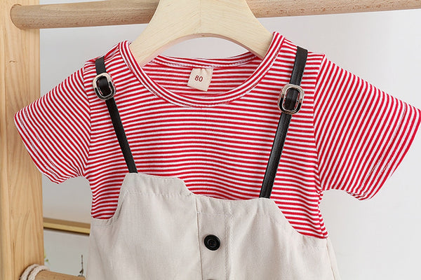 Princess Dresses For Toddlers Stripe Print Patchwork Casual Spring Summer Baby Girl Coming Home Outfit