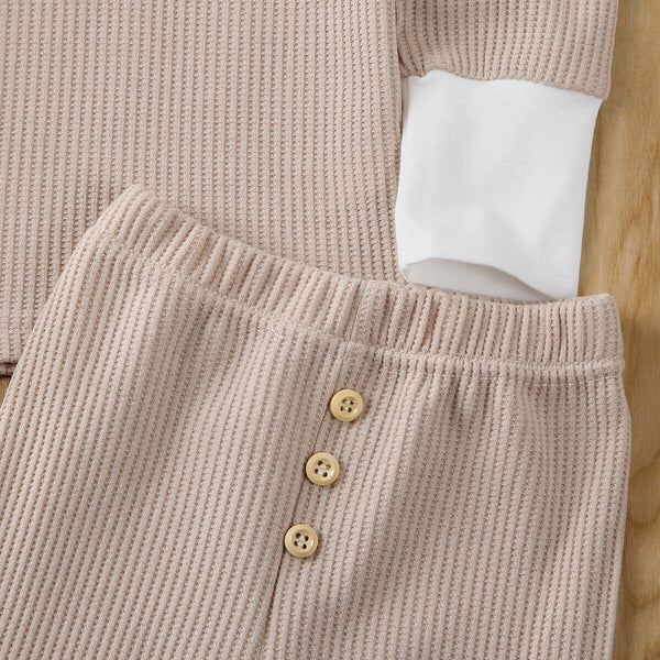 Baby Coming Home Outfit Set Autumn Spring Long Sleeve Tops + Pants Soft Baby Girl Clothes HT1A