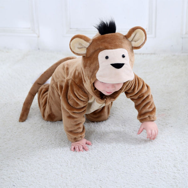 Baby Rompers Cartoon Animal Monkey