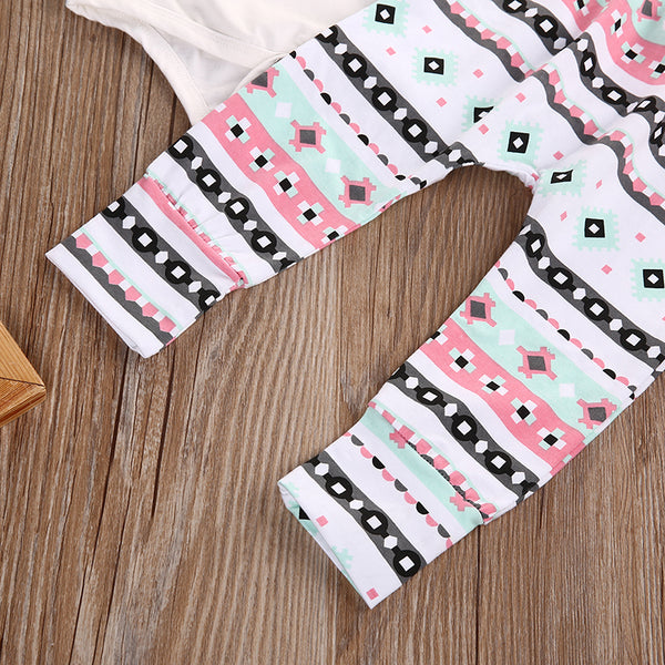Baby Girl Coming Home Outfit Set Romper+Pants +Headband Funny Baby Clothes