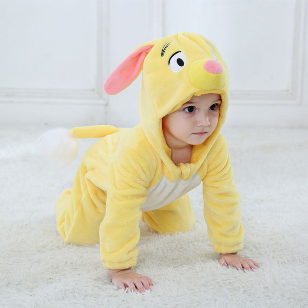 Baby Rompers Cartoon Animal Yellow Dog