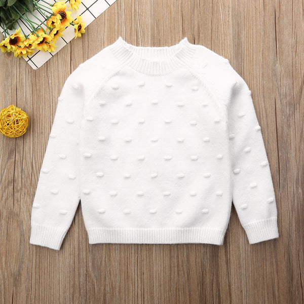 Winter Clothes Long Sleeve Pullover Knit Sweater Baby Girl Clothes
