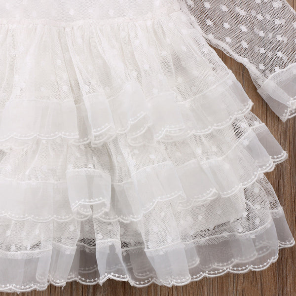 First Birthday Outfit Baby Girl Dresses White Tulle Princess