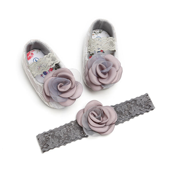 Baby First Walking Shoes Flower Shoes Lace Floral Princess Newborn Girl Shoes
