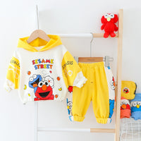 Baby Boy Clothes Cartoon Hooded Girls Tracksuit Top + Pants Toddler Boys Spring Autumn Costume For Kids