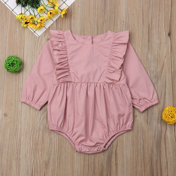 Baby Girl Rompers Autumn Princess Newborn Baby Clothes For 0-18M