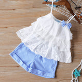 Cute Baby Girl Outfits Embroidery Design T-shirt+ Jeans