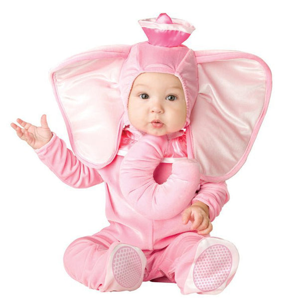 Baby First Birthday Costumes Anime Cosplay Pink Elephant 6M-3T