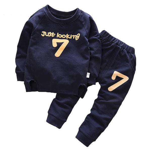 Baby Boy Going Home Outfit Autumn Winter Tshirt+Pants 2pcs Baby Boy Outfits
