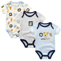Baby Boy Rompers Baby Bodysuit Newborn Boy Girl Clothing 100%Cotton 3PCS/LOT