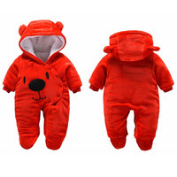 Winter Hoodie Baby Clothes New Spring Outerwear Toddler Rompers 3-12M