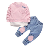 Baby Boy Going Home Outfit Autumn Winter Tshirt+Pants 2pcs Baby Boy Outfits 12M-4T