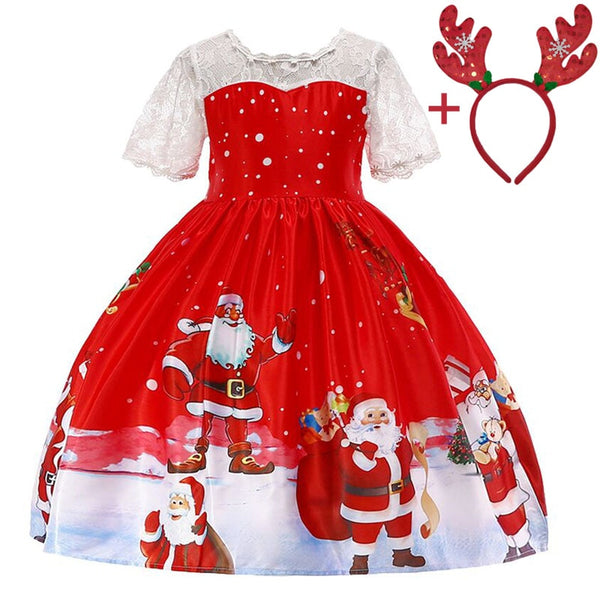 Christmas Party Outfit Princess Dress For Girls
